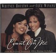 Whitney Houston Count On Me USA CD single Promo