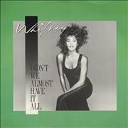 """Whitney Houston Didn't We Almost Have It All UK 12"""" vinyl"""