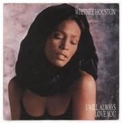 """Whitney Houston I Will Always Love You - EX UK 7"""" vinyl"""