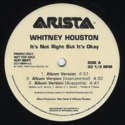 Click here for more info about 'Whitney Houston - It's Not Right'