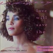 Whitney Houston Love Will Save The Day - Wallet Sleeve UK CD single