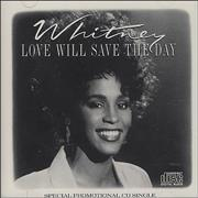Whitney Houston Love Will Save The Day USA CD single Promo