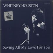 Click here for more info about 'Whitney Houston - Saving All My Love For You - Stickered sleeve'