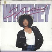 "Whitney Houston So Emotional + Poster Sleeve UK 7"" vinyl"