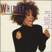 """Whitney Houston Where Do Broken Hearts Go? UK 7"""" vinyl"""