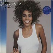 Whitney Houston Whitney - Hype Stickered sleeve Germany vinyl LP