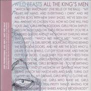 Click here for more info about 'Wild Beasts - All The King's Men'