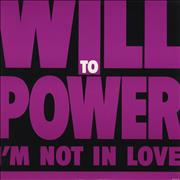 "Will To Power I'm Not In Love UK 12"" vinyl"
