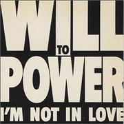 "Will To Power I'm Not In Love UK 3"" CD single"