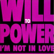 Will To Power I'm Not In Love UK CD single