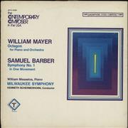 Click here for more info about 'William Masselos - William Mayer: Octagon For Piano And Orchestra / Samuel Barber: Symphony No. 1 In One Movement'