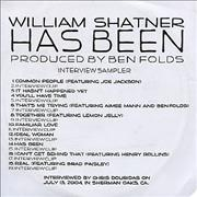 Click here for more info about 'William Shatner - Has Been Interview Sampler'