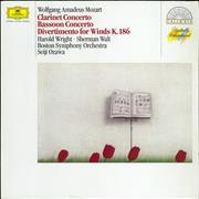 Click here for more info about 'Wolfgang Amadeus Mozart - Clarinet Concerto / Bassoon Concerto / Divertimento For Winds K.186'