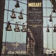 Wolfgang Amadeus Mozart Three Divertimenti For Strings (K.136, 137, 138) / Adagio & Fugue in C Minor, K.546 UK vinyl LP