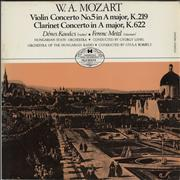 Click here for more info about 'Wolfgang Amadeus Mozart - Violin Concerto No. 5 In A Major, K. 219 / Clarinet Concerto In A Major, K. 622'