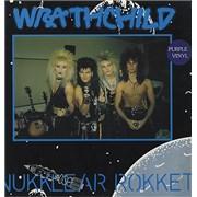 "Wrathchild Nukklear Rokket - Purple Vinyl - 2nd Label UK 12"" vinyl"