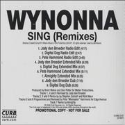 Click here for more info about 'Wynonna Judd - Sing Remixes'