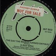 Click here for more info about 'X-Ray Spex - The Day The World Turned Dayglo - Factory Sample'