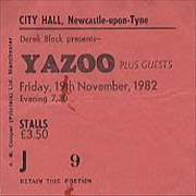 Click here for more info about 'Yazoo - City Hall, Newcastle'