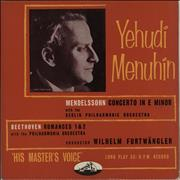 Click here for more info about 'Yehudi Menuhin - Mendelssohn: Violin Concerto in E Minor / Beethoven: Romances For Violin And Orchestra'