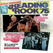 The Reading Festival Reading Rock '75 UK tour programme