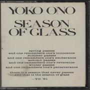 Click here for more info about 'Yoko Ono - Season Of Glass'