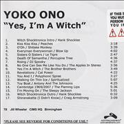 Click here for more info about 'Yoko Ono - Yes, I'm A Witch'