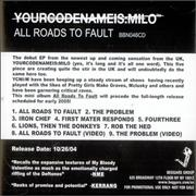 Click here for more info about 'Yourcodenameis:Milo - All Roads Lead To Fault'