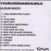Click here for more info about 'Yourcodenameis:Milo - Ignoto: Album Mixes'