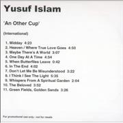 Click here for more info about 'Yusuf Islam - An Other Cup'