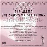 Click here for more info about 'Zap Mama - The Sabslma Selections'