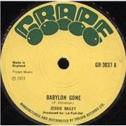 Click here for more info about 'Zeddie Bailey - Babylon Gone / Speak No Evil'