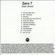 Click here for more info about 'Zero 7 - Yeah Ghost'