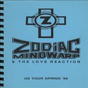 Click here for more info about 'Zodiac Mindwarp - US Tour - Spring 1988 Tour Itinerary'