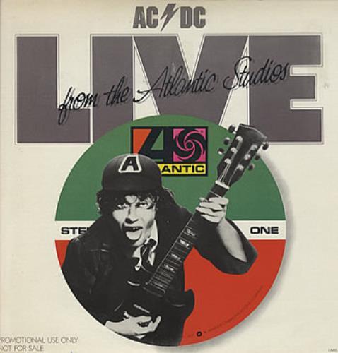 Ac Dc Live From The Atlantic Studios Usa Promo Vinyl Lp