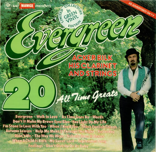 BILK, ACKER - Evergreen - 20 All Time Greats - Green Vinyl - 12 inch 33 rpm