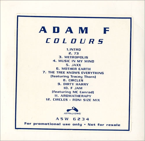 ADAM F - Colours - CD