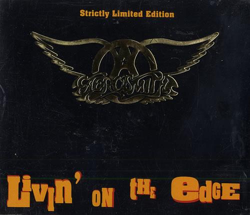 Aerosmith Livin On The Edge Gold Embossed Case Uk 5 Quot Cd