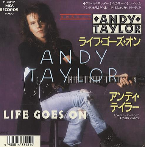 Andy Taylor Life Goes On Japanese Promo 7