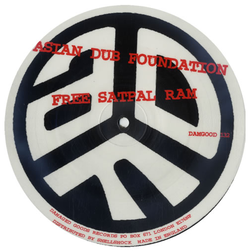 ASIAN DUB FOUNDATION - Free Satpal Ram / Paranoid - Picture Disc - 45T x 1