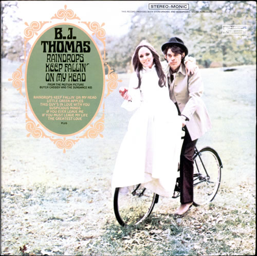 B J Thomas Raindrops Keep Fallin On My Head Canada Vinyl