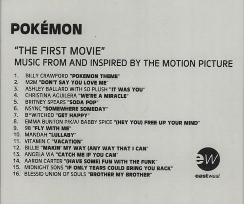 Britney Spears Soda Pop Pokemon Soundtrack Uk Promo Cd R