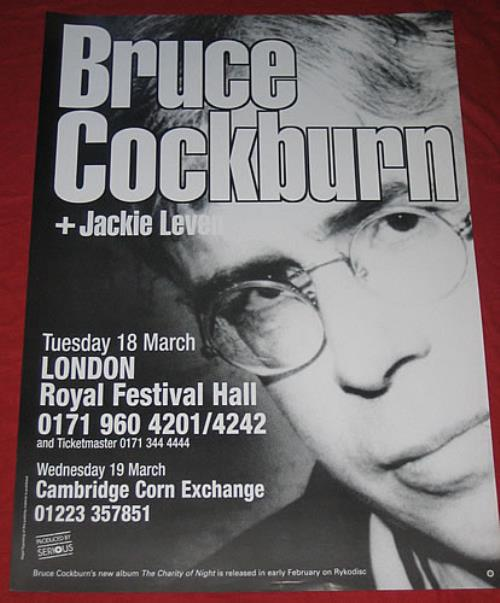 COCKBURN, BRUCE - Cambridge Corn Exchange - Poster / Affiche