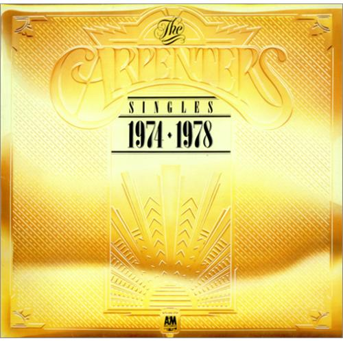 Carpenters The Singles 1974 1978 Metallic Gold Sleeve Uk