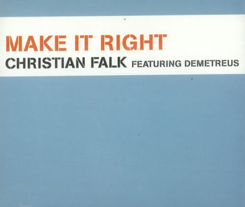 FALK, CHRISTIAN - Make It Right - CD