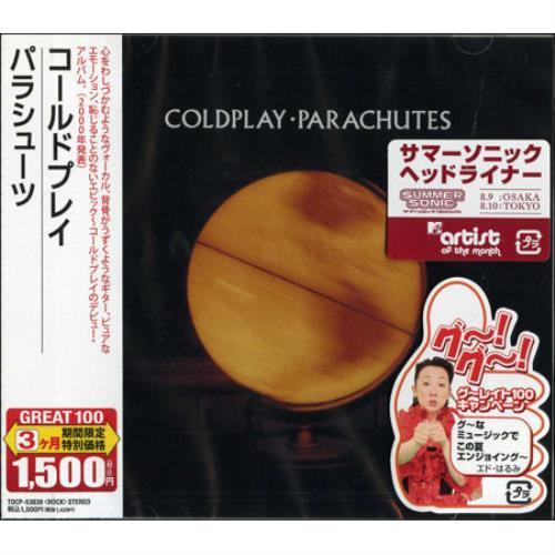 Coldplay Parachutes Japanese Cd Album TOCP-53839 Parachutes Coldplay