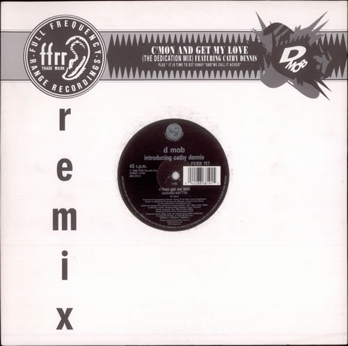 D MOB - C'mon Get My Love (Dedication Mix) - 12 inch 33 rpm