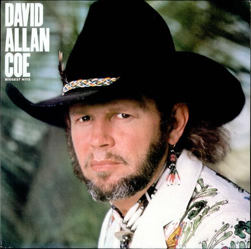 David Allan Coe Biggest Hits Usa Vinyl Lp Record Fc38318 Biggest