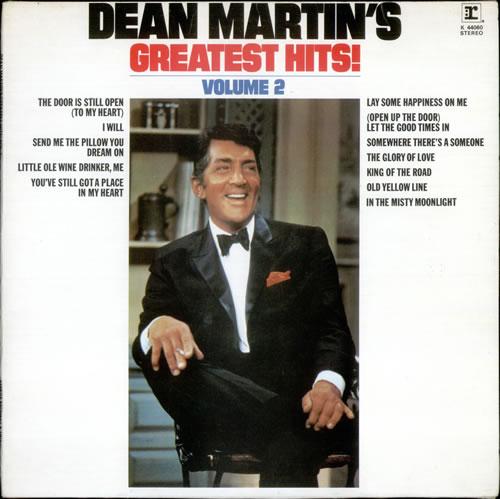 Dean Martin Martins Greatest Hits Vol 2 UK Vinyl LP Record