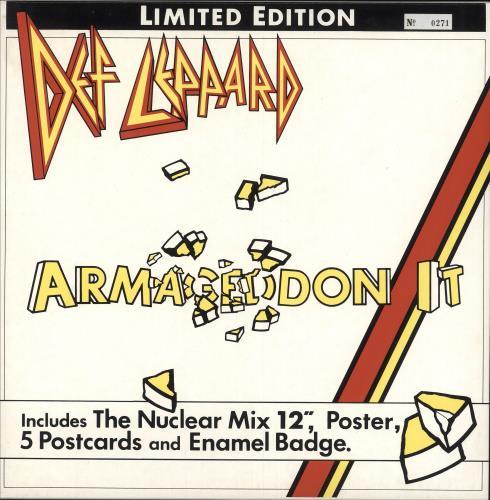 Def Leppard Armageddon It - Box Pack UK Vinyl LP Box Set LEPXB4